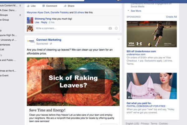 Example of a Retargeting Ad on Facebook