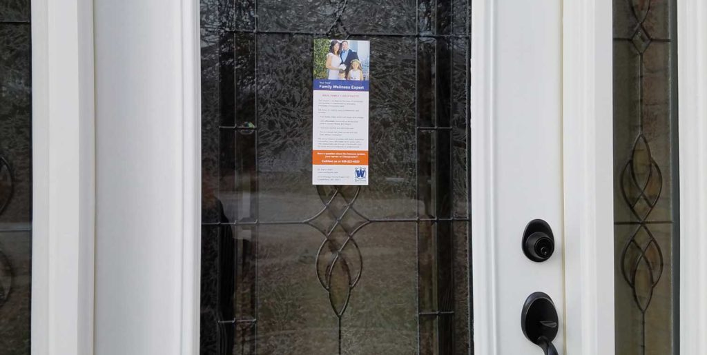 flyer on door & How to Plan Your Flyer Distribution | Connect Marketing