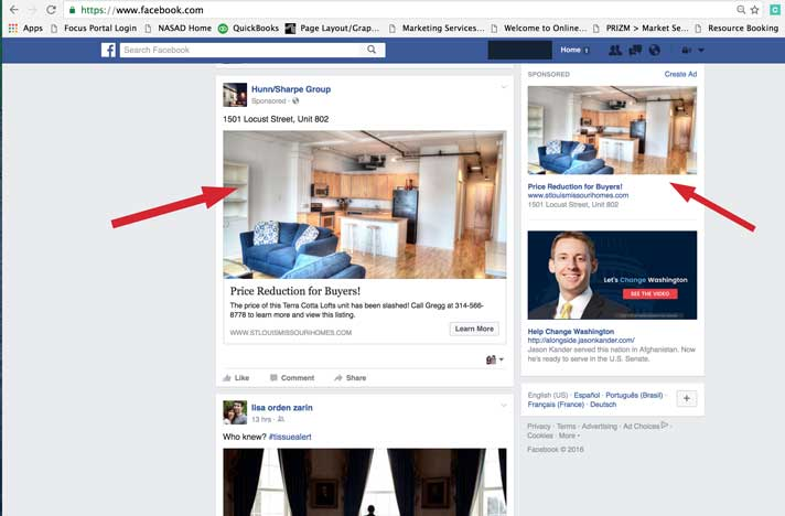 Facebook Ad for Real Estate Marketing