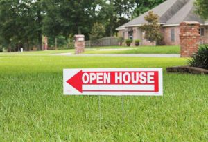 real estate open house yard sign